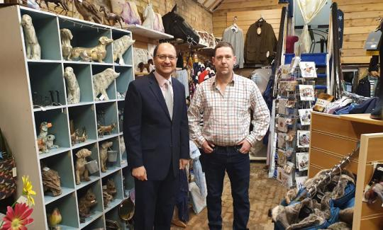 Shailesh Vara MP and James Morgan