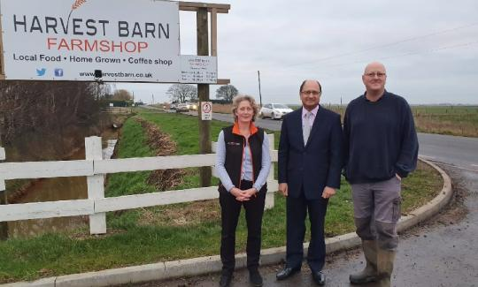 Lynn Briggs, Shailesh Vara MP and Stephen Briggs