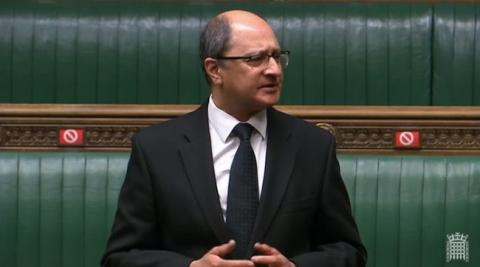 Shailesh Vara MP speaking in the House of Commons